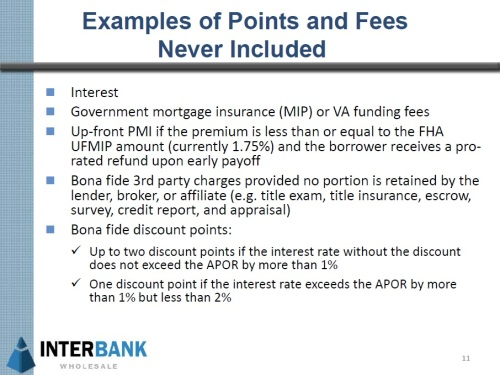 QM Points and Fees Not Included